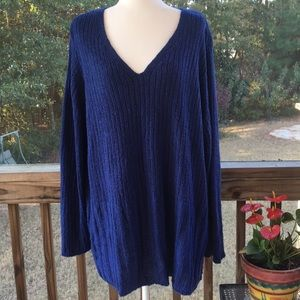 Avenue Royal Blue LongSleeve Sweater Sz 26/28